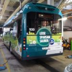 Hybridbus Potsdam Produktion/Montage Rieck Beschriftungen
